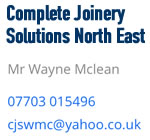 Complete Joinery Solutions NE
